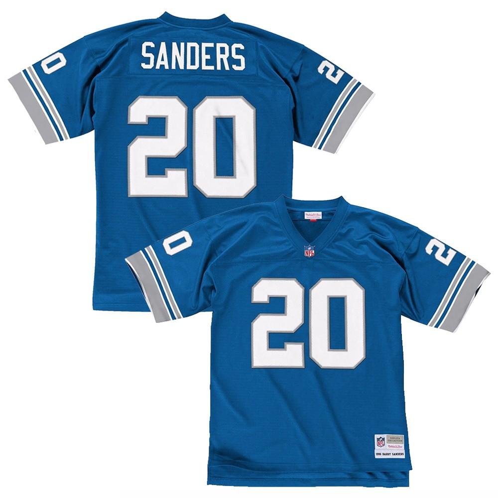 Barry Sanders 1996 Detroit Lions Mitchell   Ness Home Blue Legacy Jersey  Men s 4b9c4d8d6