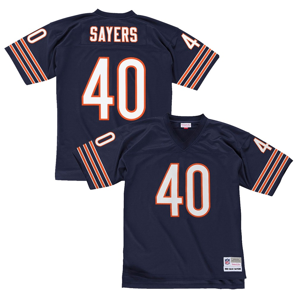 Gale Sayers 1969 Chicago Bears Mitchell   Ness Home Navy Blue Legacy Jersey 2ce347893