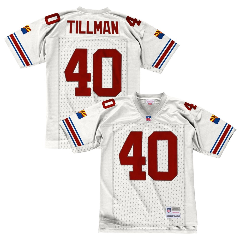 new styles 28f0c e6f55 Details about Pat Tillman 2000 Arizona Cardinals Mitchell & Ness Road White  Legacy Jersey