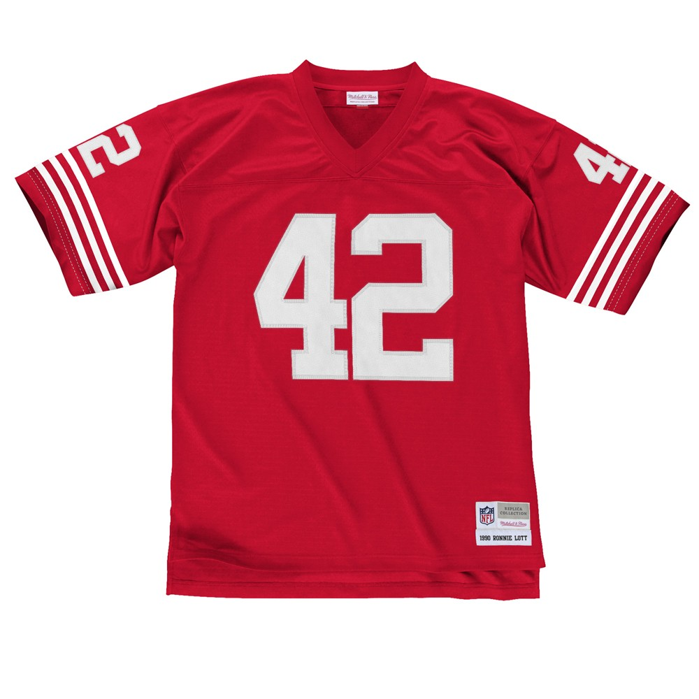 San Francisco 49ers Ronnie Lott Sz XL Mitchell   Ness Throwback Jersey.  About this product. Picture 1 of 4  Picture 2 of 4  Picture 3 of 4 ... 5db87a058