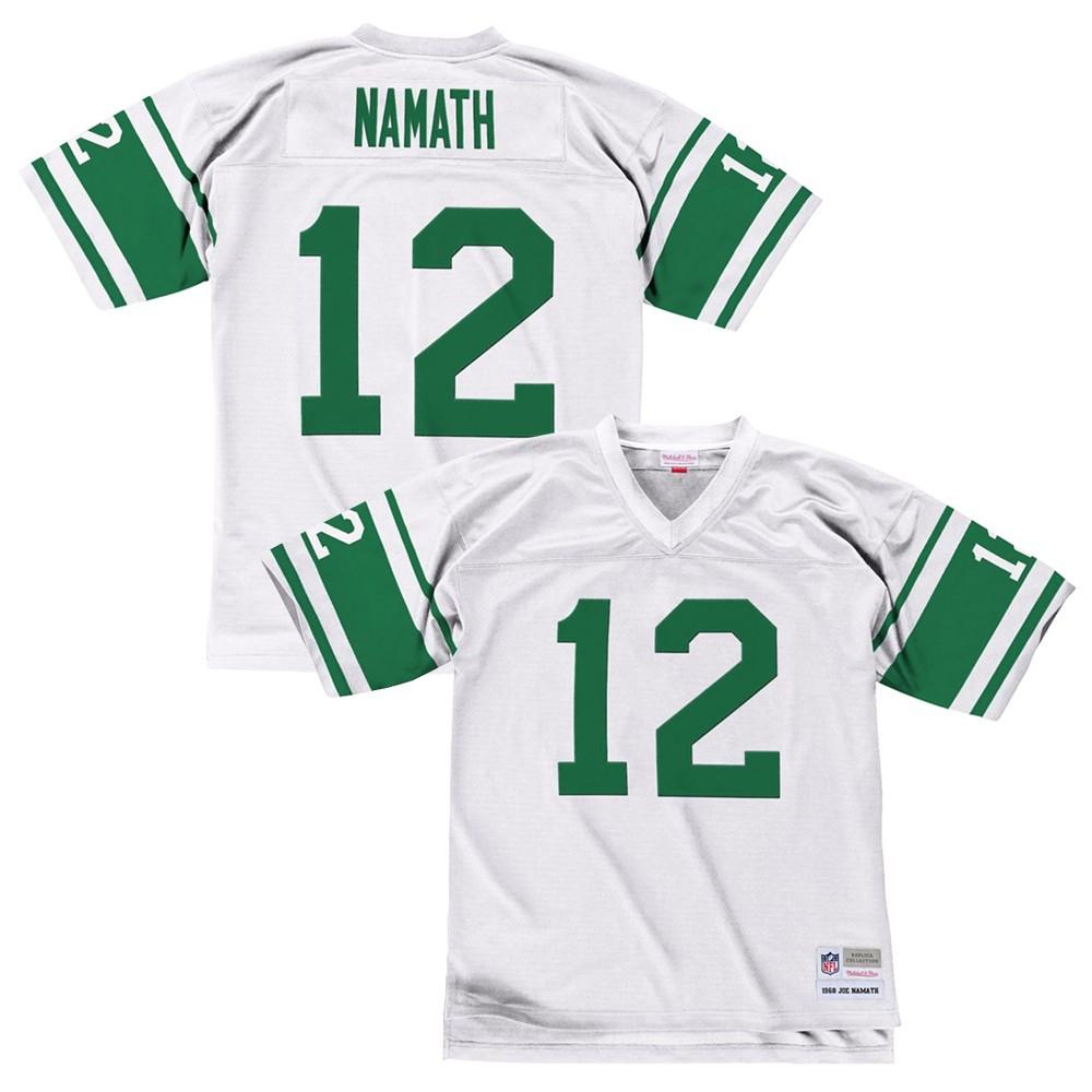f8593863 Details about Joe Namath 1968 New York Jets Mitchell & Ness Road White  Legacy Jersey Men's