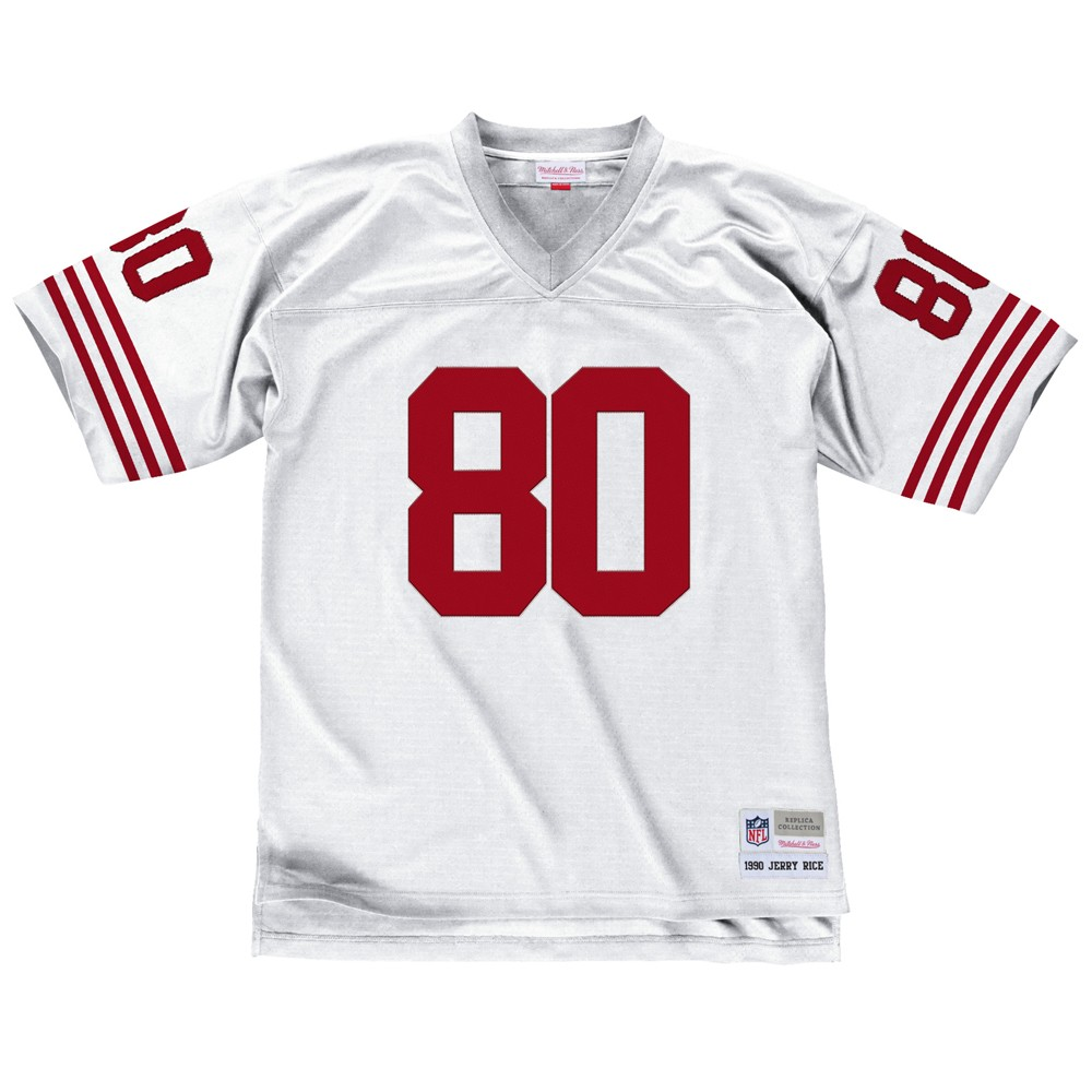 NFL-Mitchell-amp-Ness-Throwback-Player-Road-White-Legacy-Jersey-Collection-Men-039-s thumbnail 25