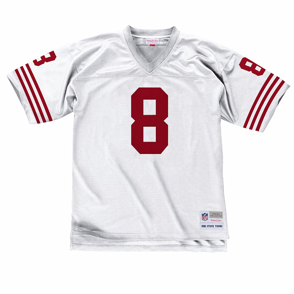 NFL-Mitchell-amp-Ness-Throwback-Player-Road-White-Legacy-Jersey-Collection-Men-039-s thumbnail 71