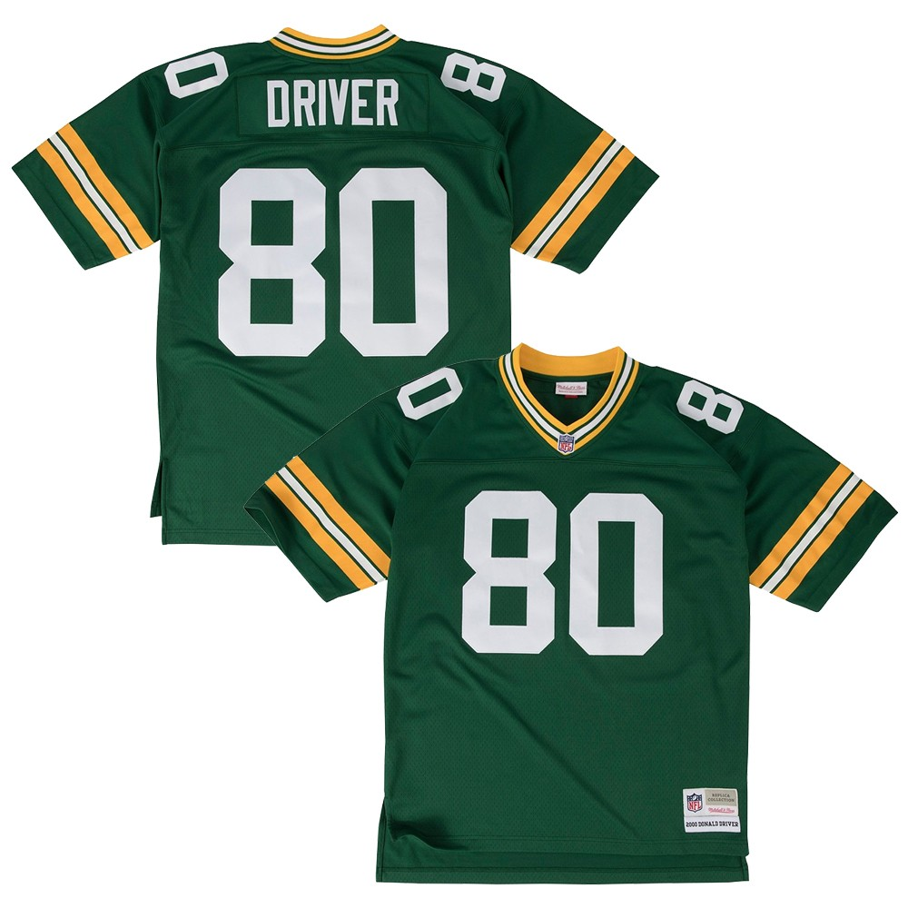 5b4c0543 Details about Donald Driver 2000 Green Bay Packers Mitchell & Ness Home  Green Legacy Jersey