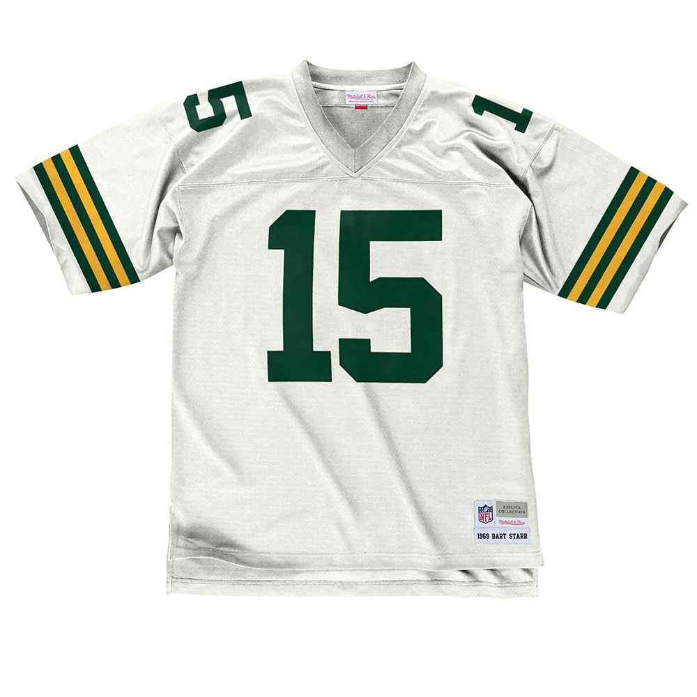 NFL-Mitchell-amp-Ness-Throwback-Player-Road-White-Legacy-Jersey-Collection-Men-039-s thumbnail 7