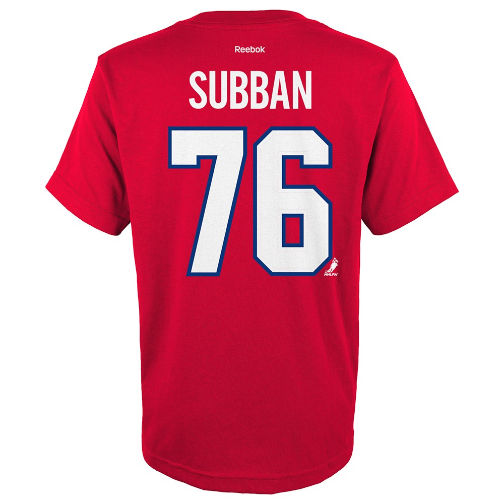 new product 8b91a c605c Details about P.K. Subban NHL Reebok Montreal Canadiens Premier Jersey Red  T-Shirt Youth S-XL