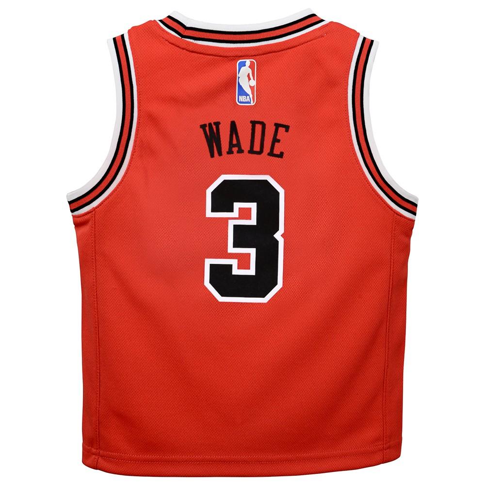 b7b17941e96 Outerstuff Dwyane Wade Chicago Bulls NBA Red Away Road Replica Jersey  Toddler Size (2T-