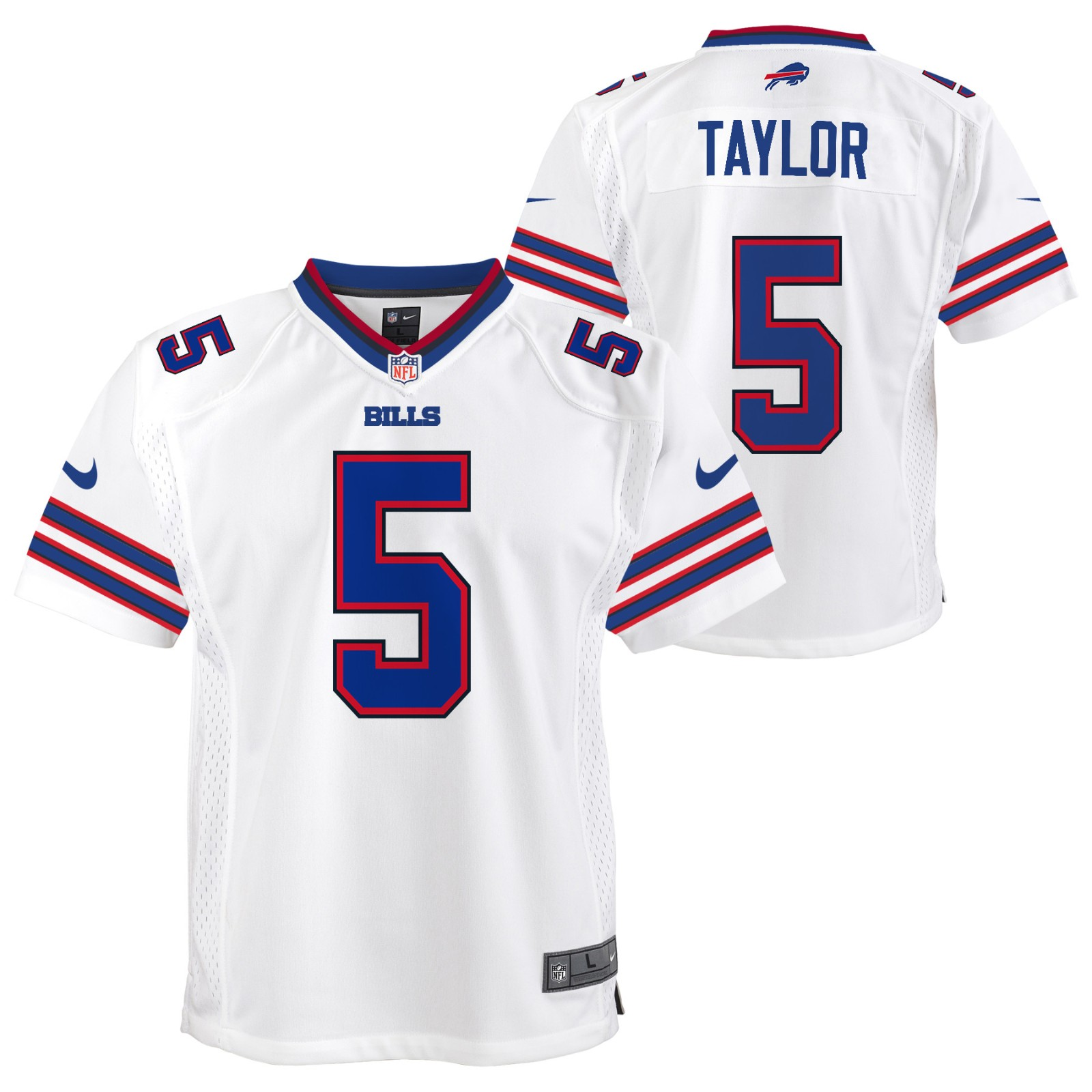 38ffaf11 Details about Tyrod Taylor Buffalo Bills NFL Nike Youth White Game Jersey