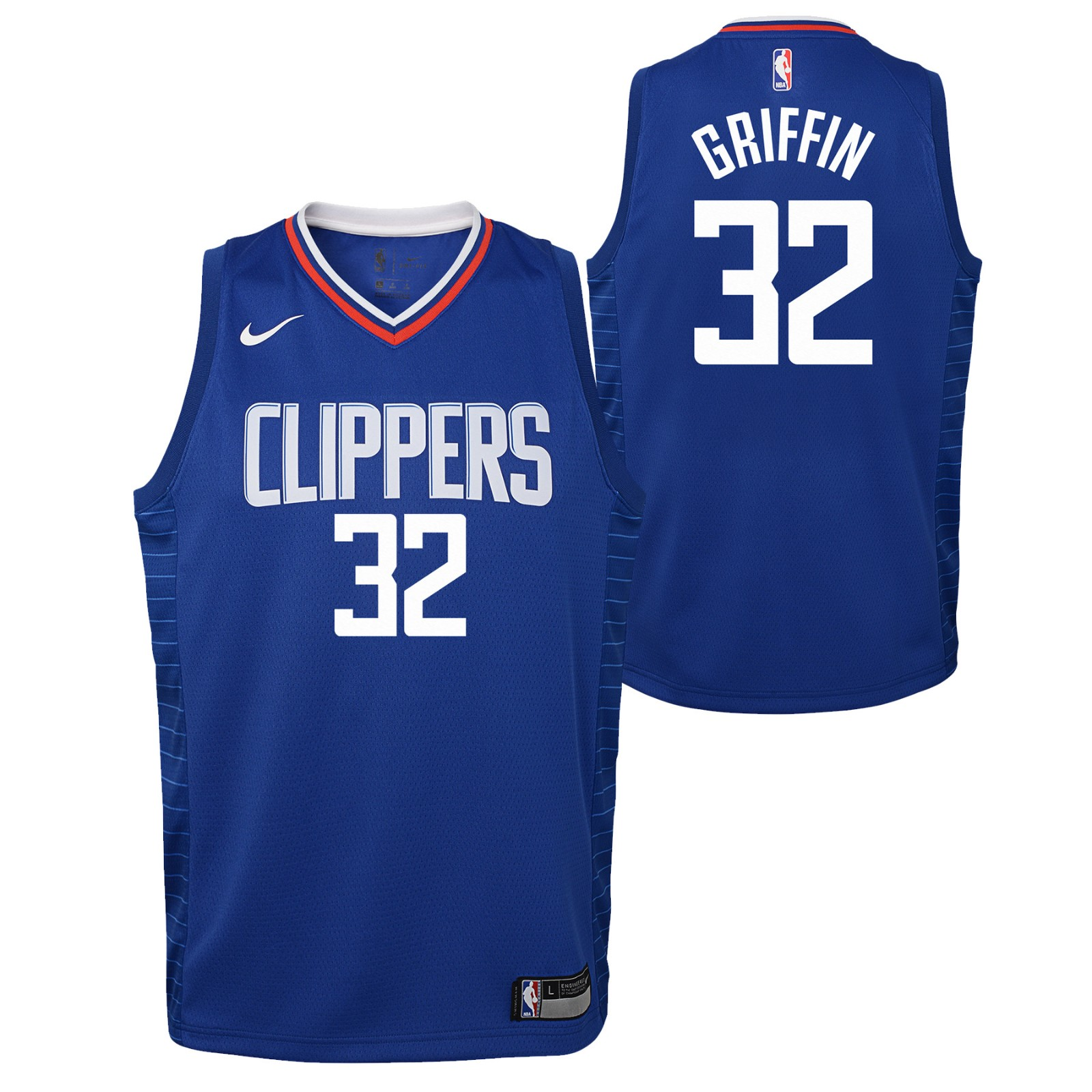 67dd01ebb Blake Griffin Los Angeles Clippers NBA Nike Youth Blue Icon Swingman Jersey