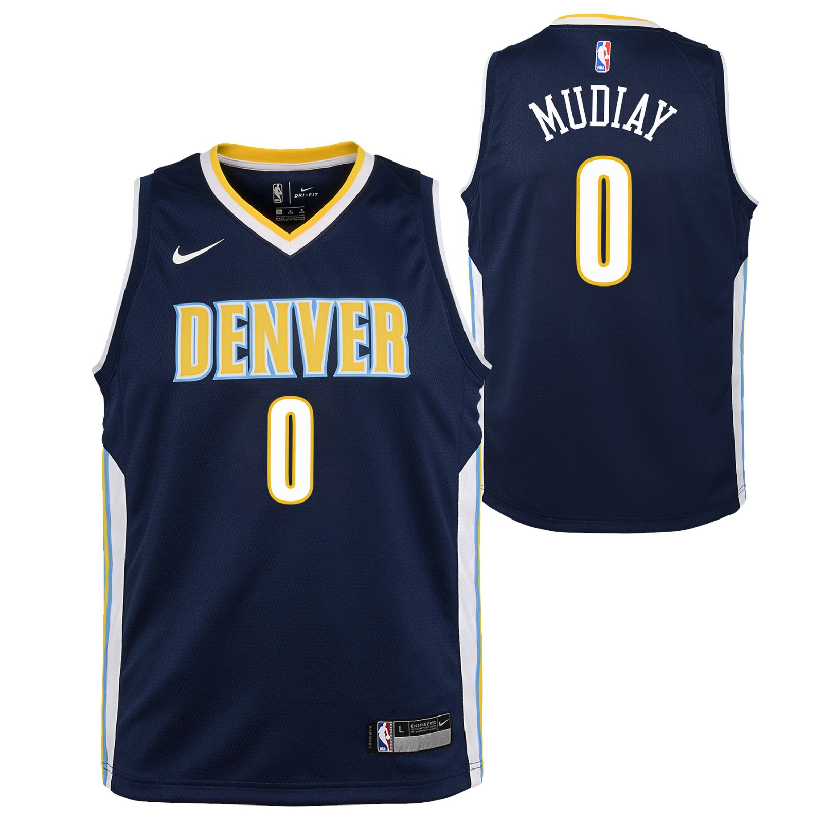 Details about Emanuel Mudiay Denver Nuggets NBA Nike Youth Navy Blue Icon  Swingman Jersey a90c2ff99