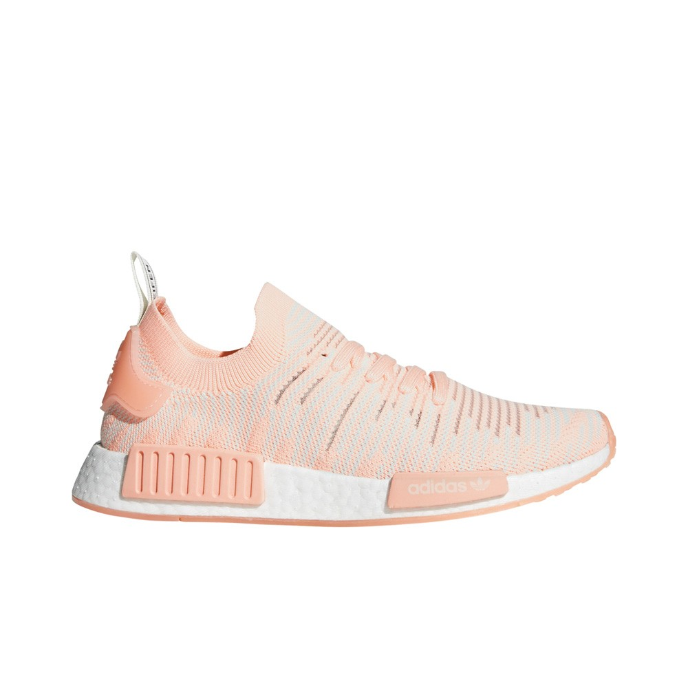timeless design 3fe02 649e9 Details about Adidas NMD_R1 STLT Primeknit (Clear Orange/Running White)  Women's Shoes AQ1119