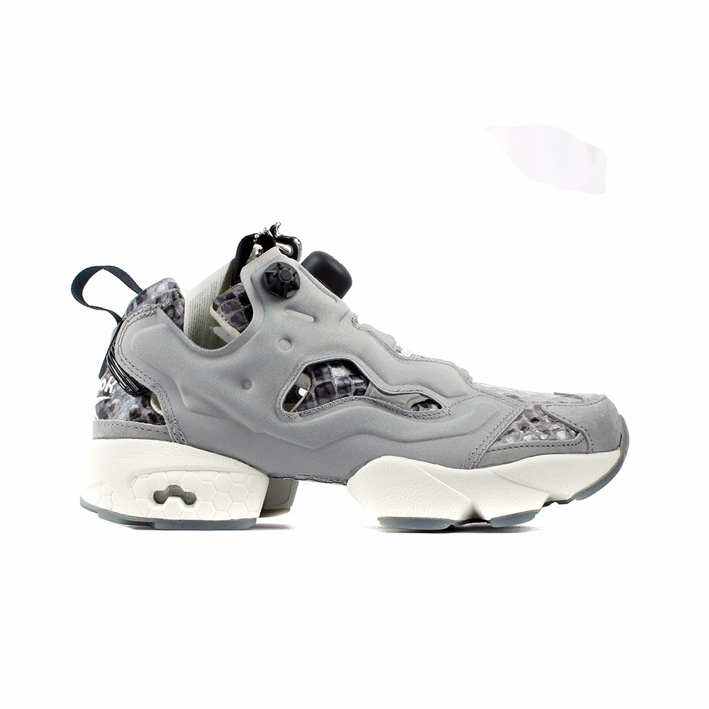 new products 82656 ad9d6 REEBOK INSTAPUMP FURY (FLAT GREY COAL SILVER) Women s Shoes AQ9214