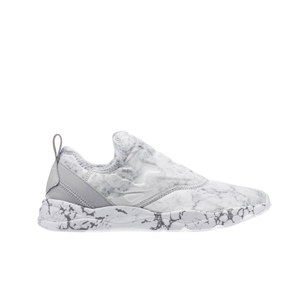 c0a78acdd71f Details about Reebok Furylite Slip On Stone (WHITE SNOWY GREY) Women s  Shoes AR1414