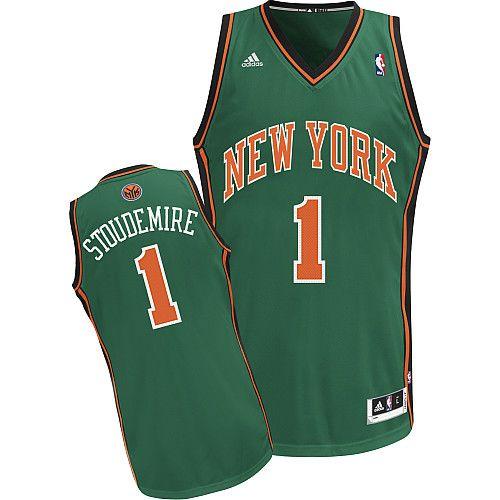b0fabe4c4 Amare Stoudemire NY Knicks St Patricks Day Adidas Swingman Jersey ...