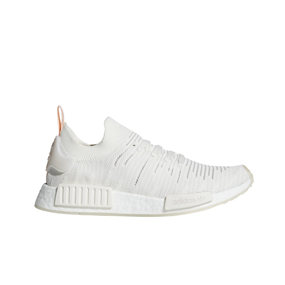 Adidas Originals Nmd R1 Stlt Primeknit White Clear Orange Women S
