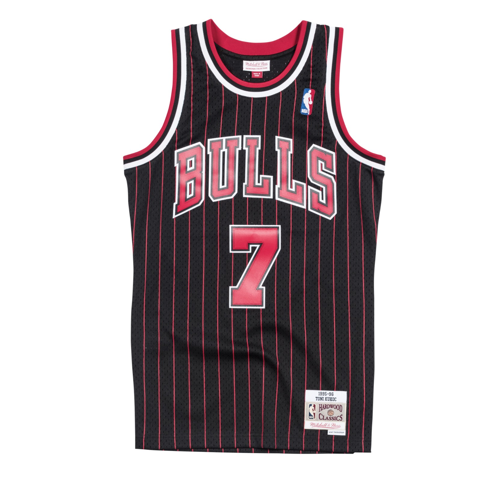 27d40199a961 Details about Toni Kukoc 1995-96 Chicago Bulls Alternate Mitchell   Ness  Swingman Jersey Men s