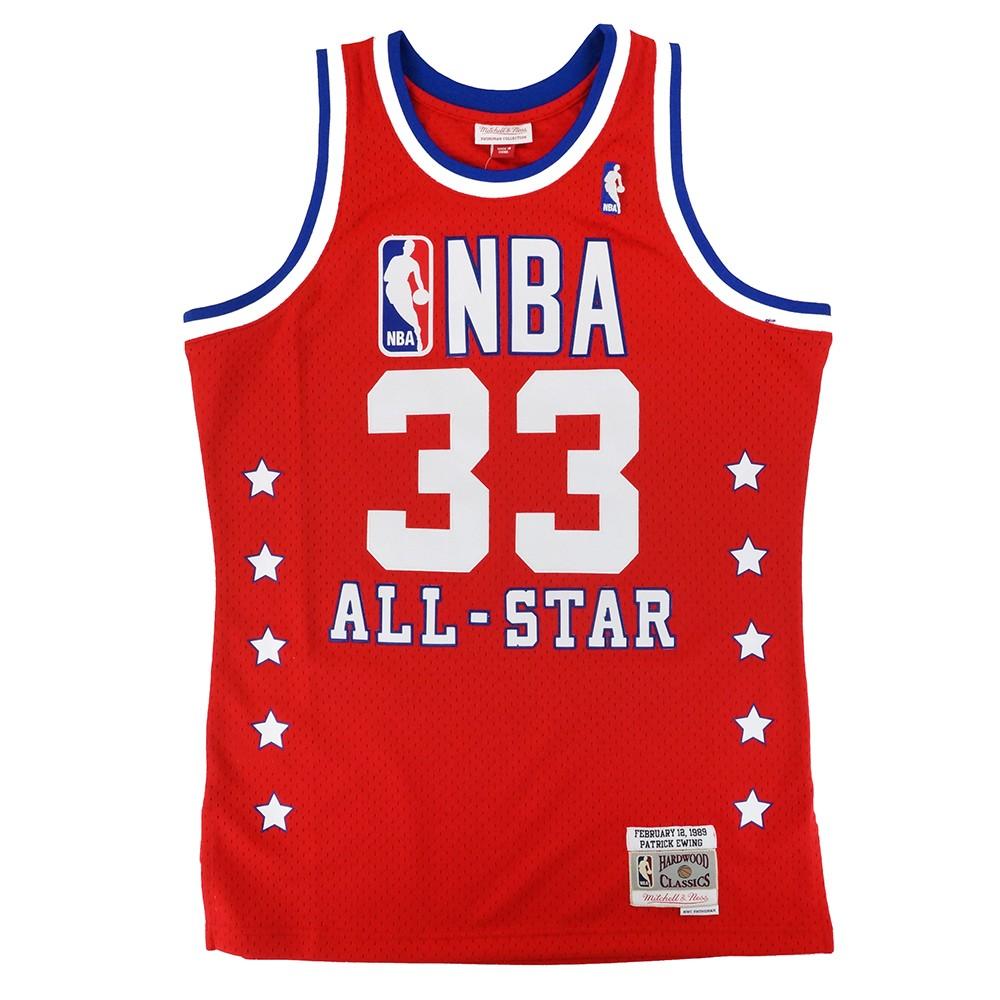 f5218e0b8 Patrick Ewing 1989 NBA All Star East Mitchell   Ness Swingman Red Jersey  Men s
