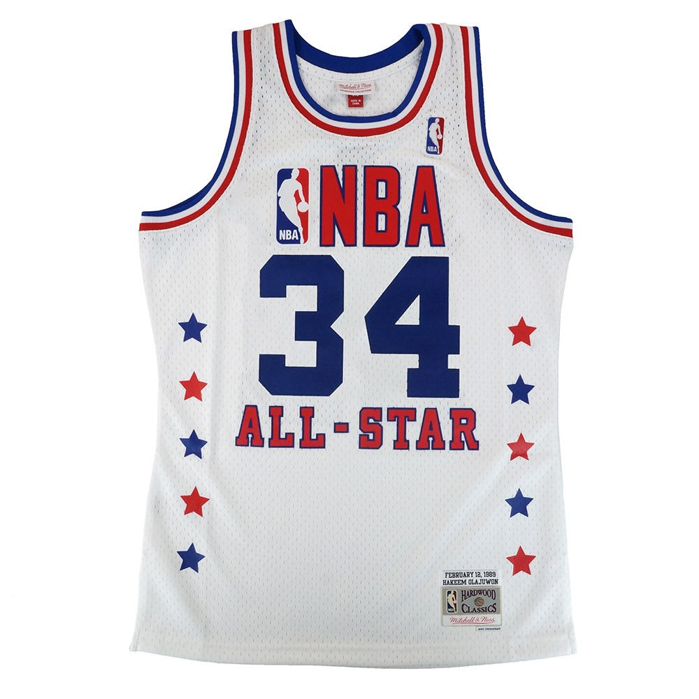online retailer 9a3c9 c83f2 Details about Hakeem Olajuwon 1989 NBA All Star East Mitchell & Ness  Swingman Jersey Men's