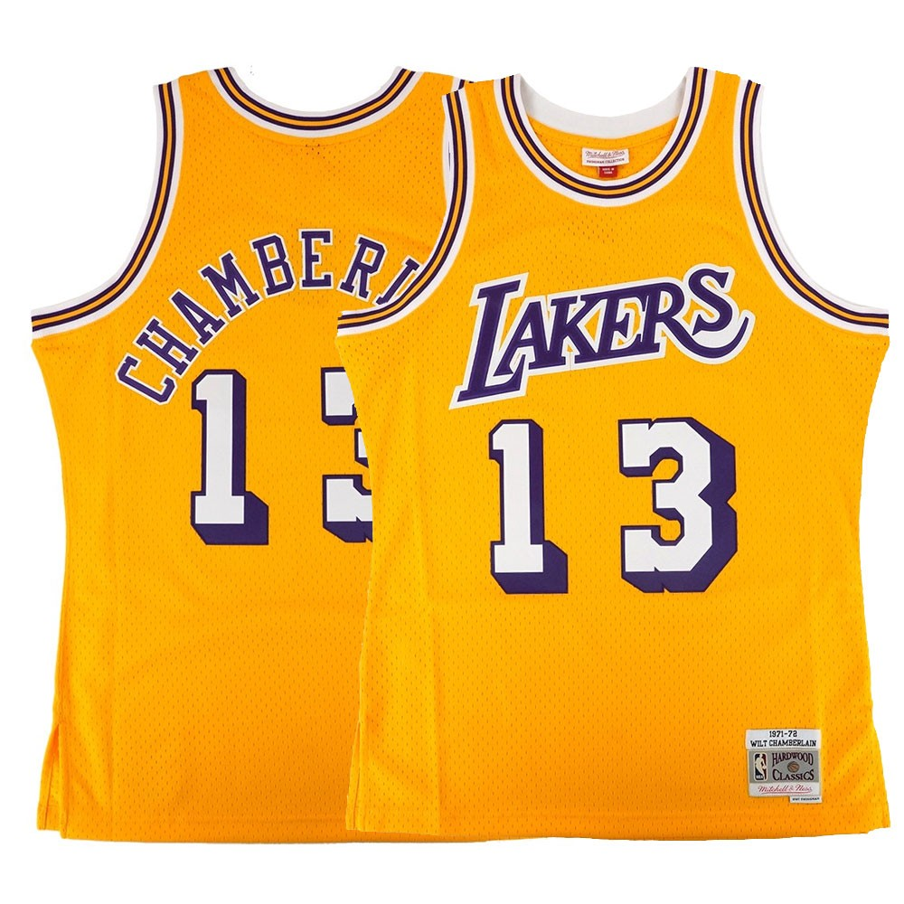 68ec011cdf1f Wilt Chamberlain NBA Los Angeles Lakers Mitchell   Ness Men s 1971-72 Home  Swingman Gold Jersey (S)