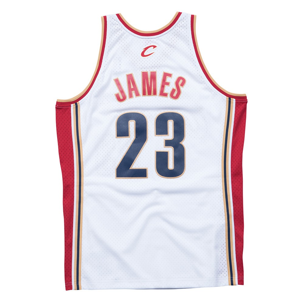 de1e62fed3a Details about LeBron James 2003-04 Cleveland Cavaliers Mitchell & Ness  Swingman Home Jersey