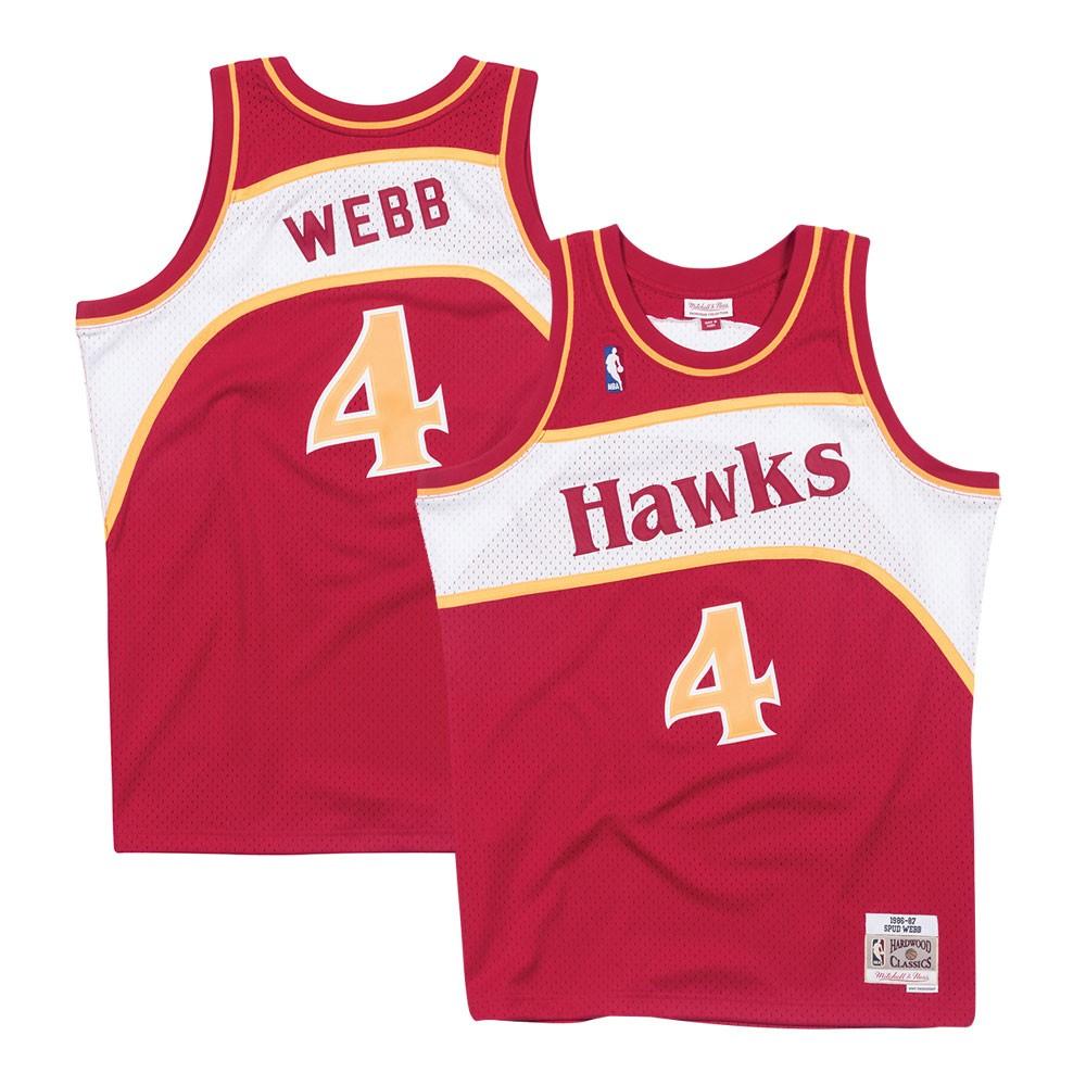 9f189c0c70e Spud Webb Atlanta Hawks 1986-87 Road Red Mitchell   Ness Swingman Jersey
