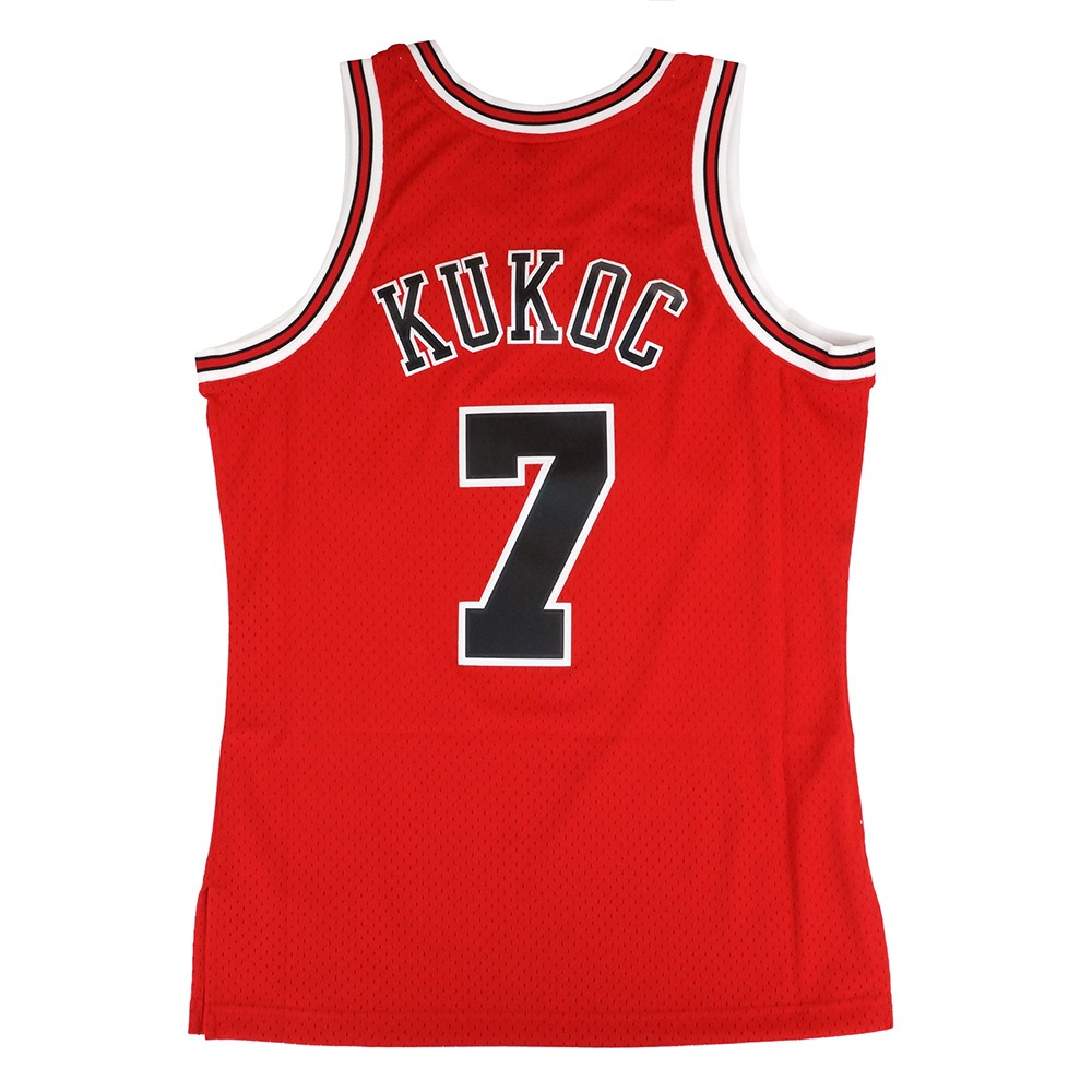 toni kukoc 1997 98 chicago bulls mitchell ness red soul swingman jersey mens