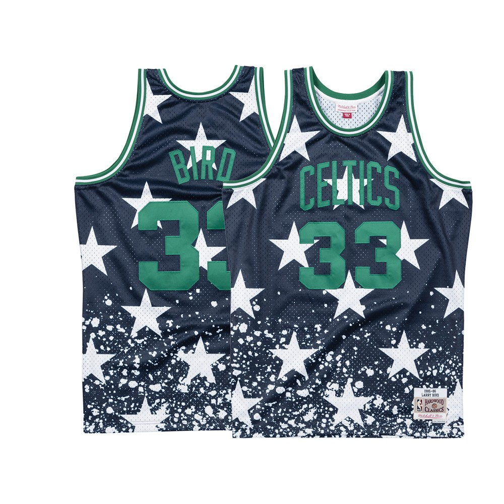 save off 8a146 8fa0c Details about Larry Bird Boston Celtics Mitchell & Ness Men's 4th of July  Swingman Jersey