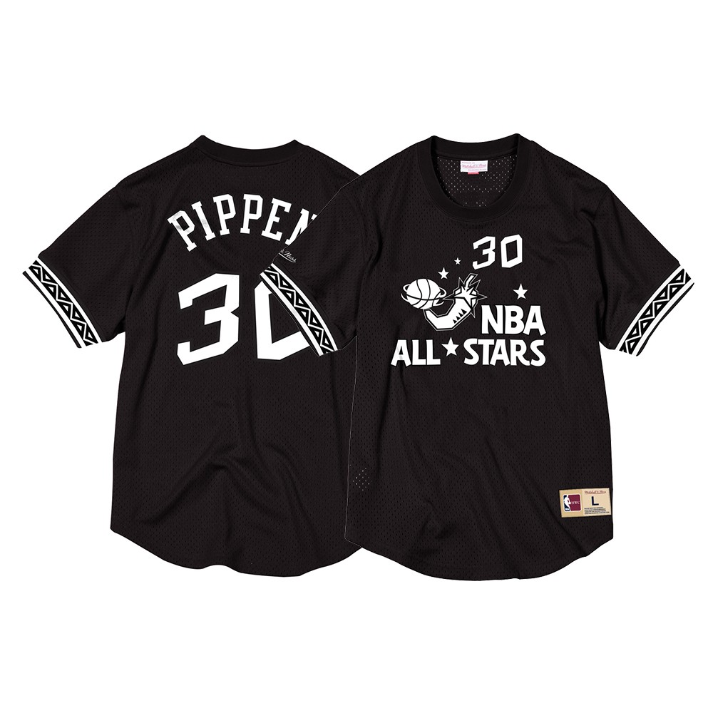 Scottie Pippen 1996 NBA All Star East Mitchell   Ness Men s Mesh Crew Neck  N N Black Jersey 5bad7a5a2