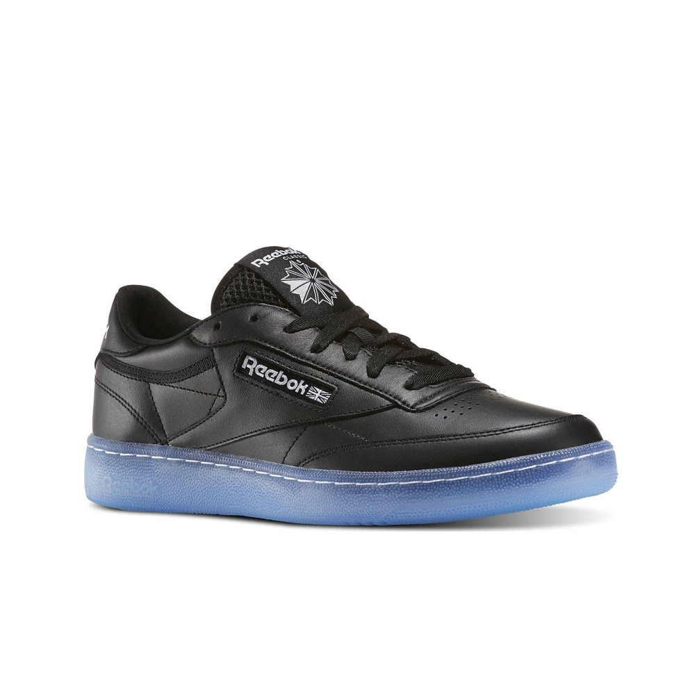 c43df2489d9d2 Details about Reebok Club C 85 Ice (BLACK WHITE-ICE) Men s Shoes BD1673