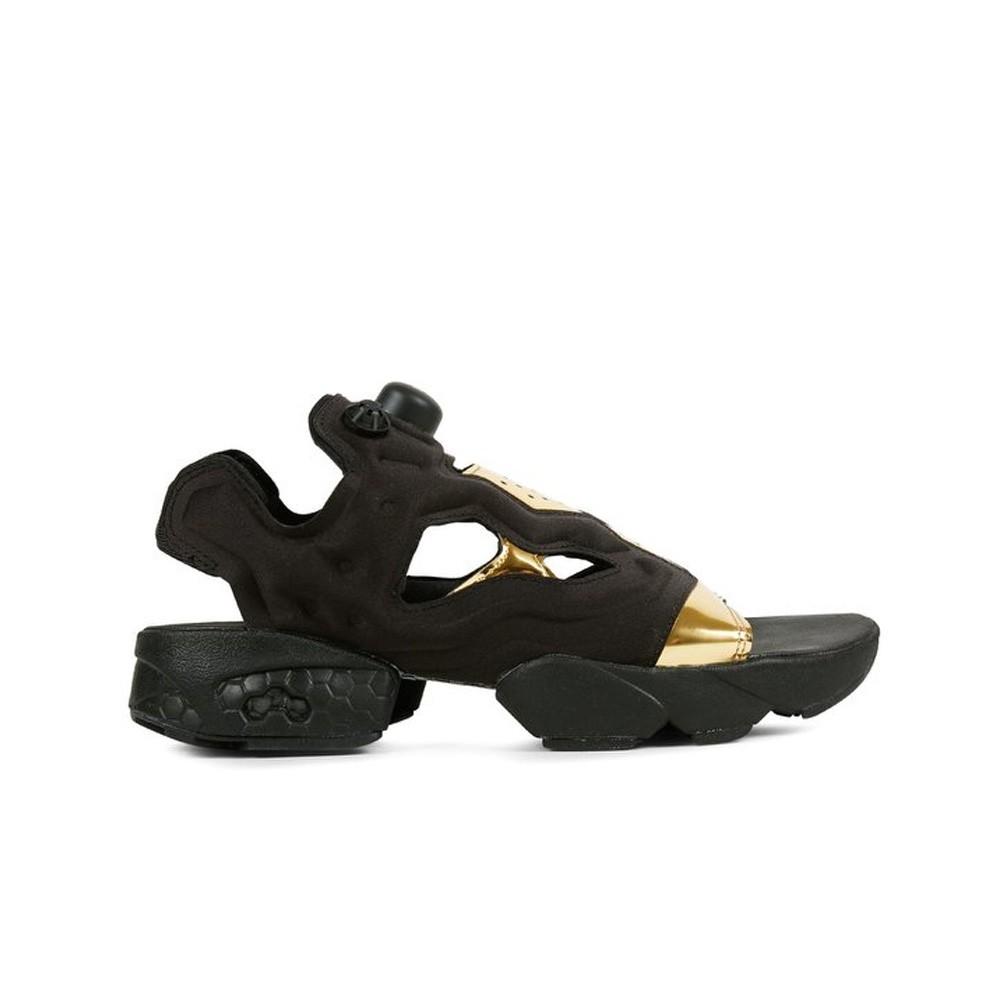 Reebok Instapump Fury Sandal Mag (BLACK GOLD MET WHITE) Women s Shoes BD3184 85e793e35