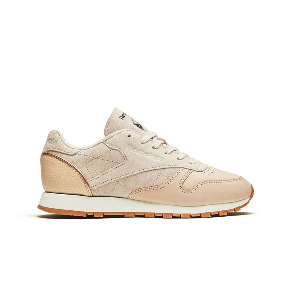 82f08cc8f85 Reebok Classic Leather Golden Neutrals (VEGTAN-SANDTRAP) Women s Shoes  BD3744