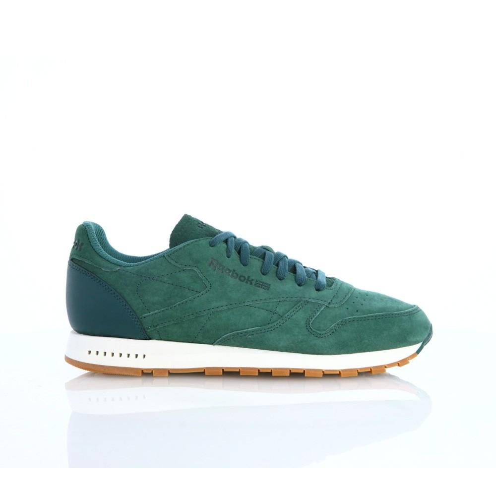 06113de041cf8 Reebok Classic Leather Sg (WASHED JADE CHALK-GUM) Men s Shoes BD6014 ...
