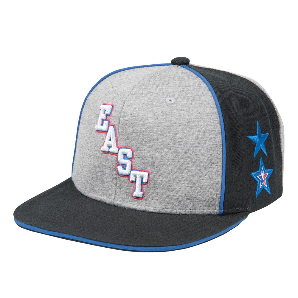 official photos d2669 589c8 2004 NBA All Star East Mitchell   Ness Retro Team Stars Grey Snapback Cap  Hat
