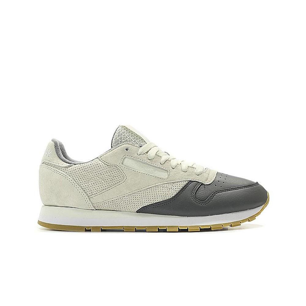Details about Reebok Classic Leather Ls (CHALKALLOYWHITE GUM) Men's Shoes BS5080