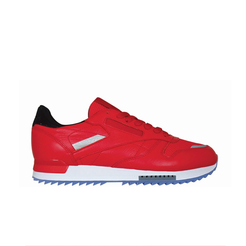 56f8c4ca874fe Reebok Classic Leather Ripple Low Bp (PRIMAL RED WHITE BLACK) Men s Shoes  BS5250