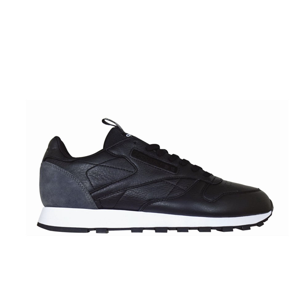 e080566f3a5 Details about Reebok Classic Leather It (BLACK COAL WHITE) Men s Shoes  BS6210