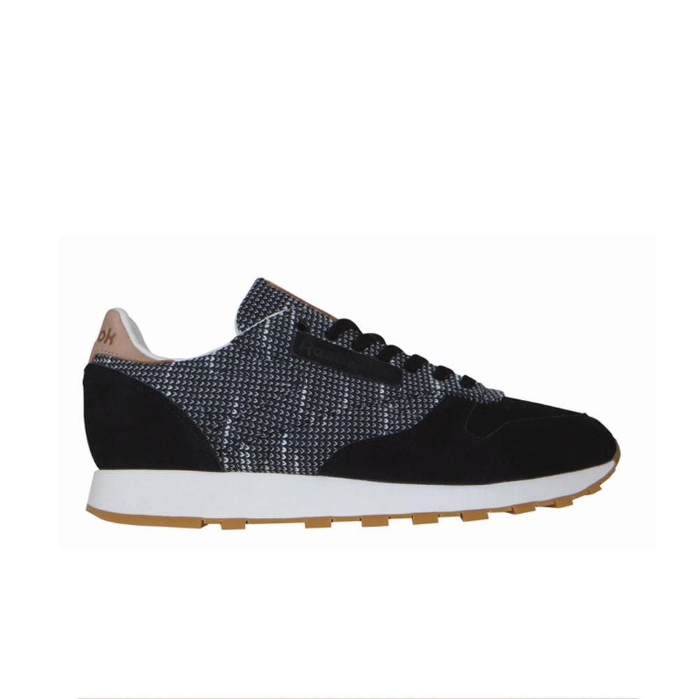 71973ba4a02 Reebok Classic Leather Ebk (BLACK STARK GREY SAND STO) Men s Shoes BS6236