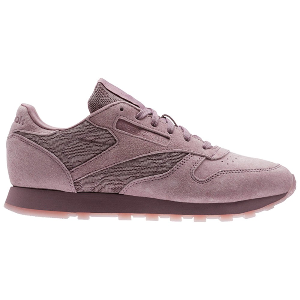 851ccf730fcbba Reebok Classic Leather Lace (SMOKY ORCHID WHITE) Women s Shoes BS6521