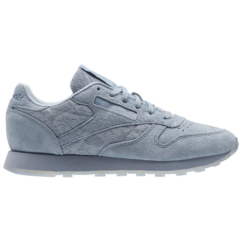 4a48fdf96ff Reebok Classic Leather Lace (METEOR GREY WHITE) Women s Shoes BS6522 ...