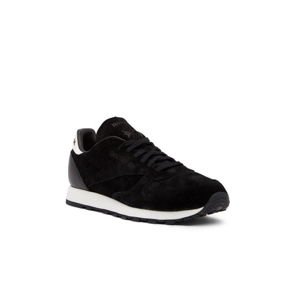 3ff9732fe230e Details about Reebok Classic Leather Sg (BLACK CHALK) Men s Shoes BS7578