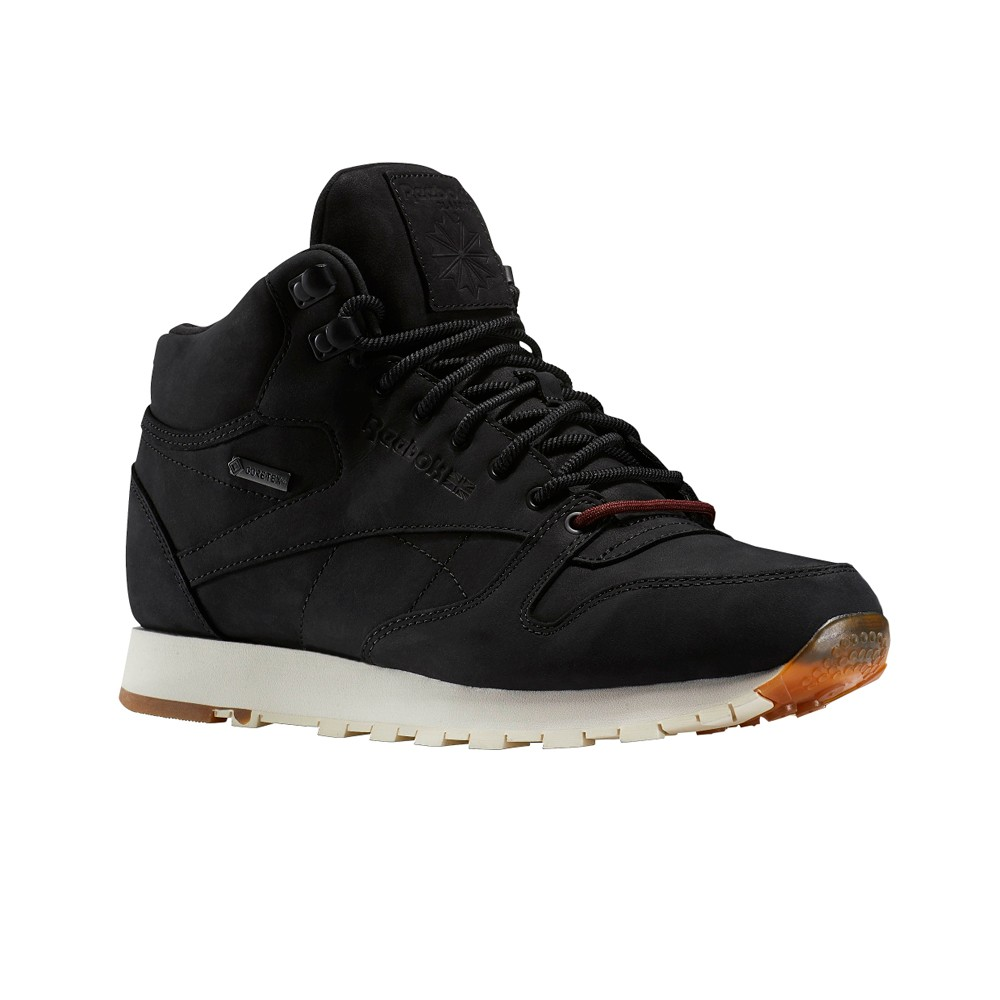 Details about Reebok Classic Leather Mid Gtx Thin (BLACKPAPERWHITE GUM) Men's Shoes BS7883