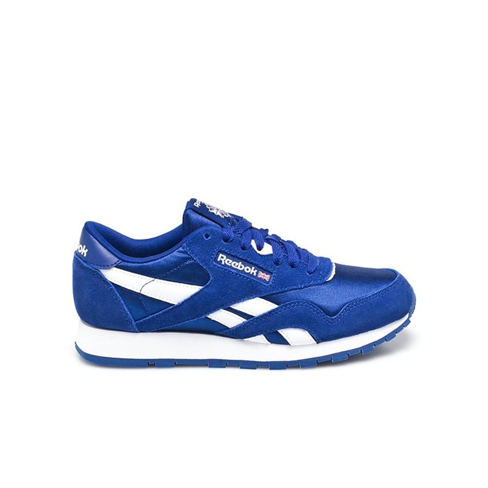 Reebok Classic Leather Nylon (DEEP COBALT WHITE) Grade School Kids Shoes  BS8674 9c9d6a771