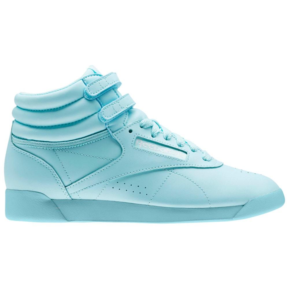 c7308911c42 Reebok Freestyle Hi Colors (BLUE LAGOON WHITE) Women s Shoes BS9364 ...
