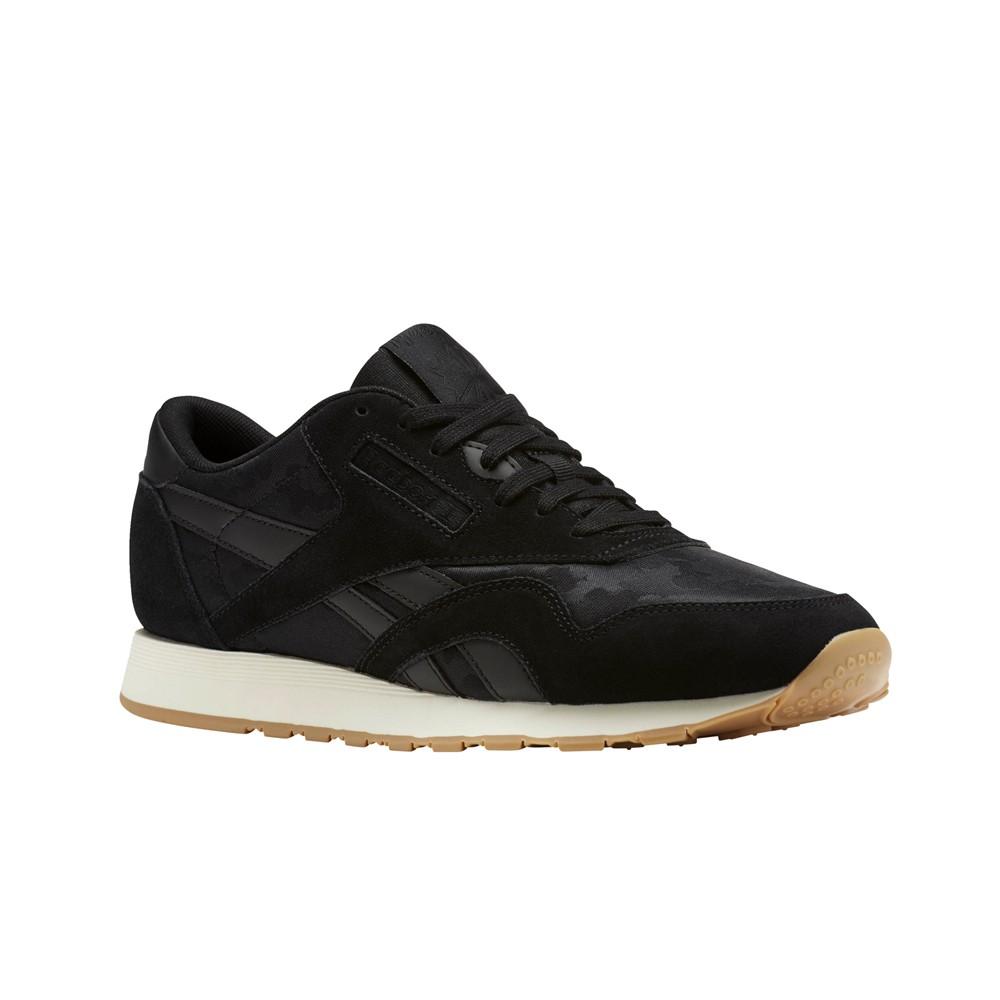 1a457f707f8 Reebok Classic Leather Nylon Sg (BLACK CHALK) Men s Shoes BS9569