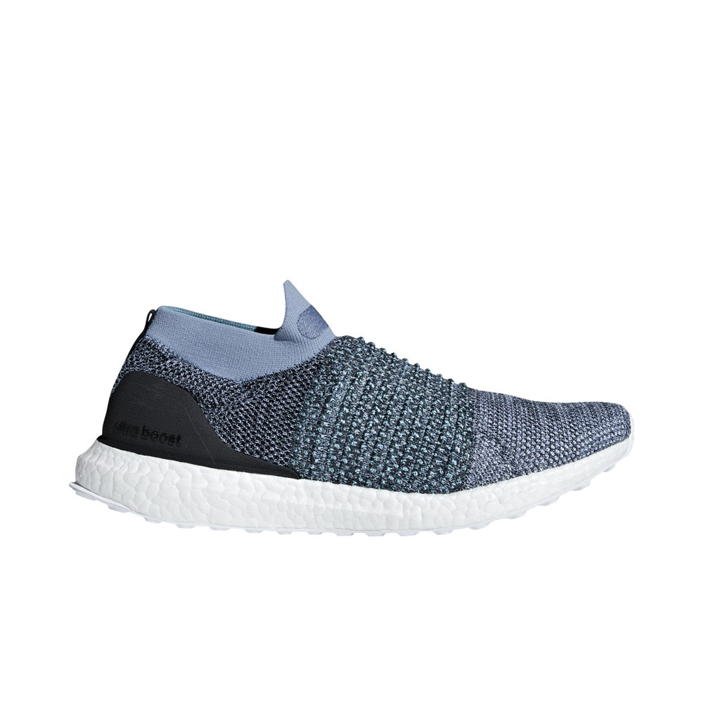 Adidas Ultra Boost Laceless Parley Blue FW18 Man Running shoes