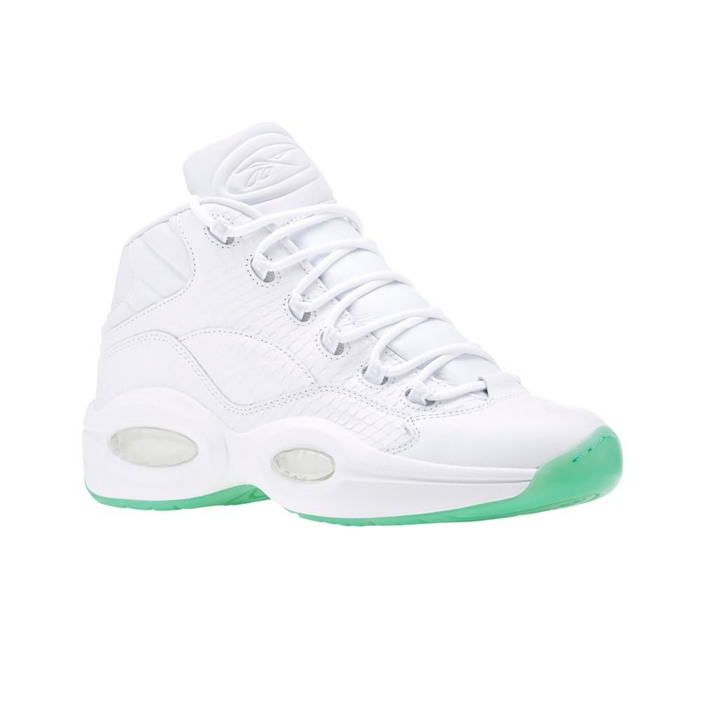 6643cf1680ab Reebok Question Mid Ee (WHITE MINT GLOW) Men s Shoes CM9417