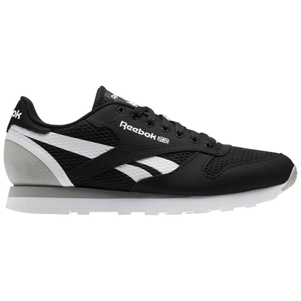 f93846c1b81 Reebok Classic Leather Mvs (BLACK STARK GREY WHITE) Men s Shoes CM9600