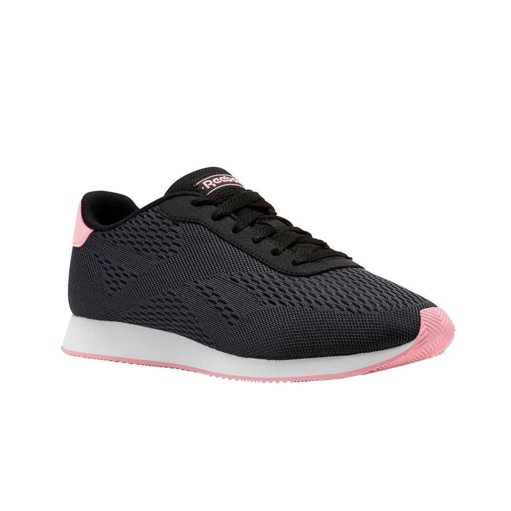 9706f1270a46 Reebok Reebok Royal Cl Jog 2Px (BLACK ASH GREY SQUAD PINK) Women s Shoes  CM9821