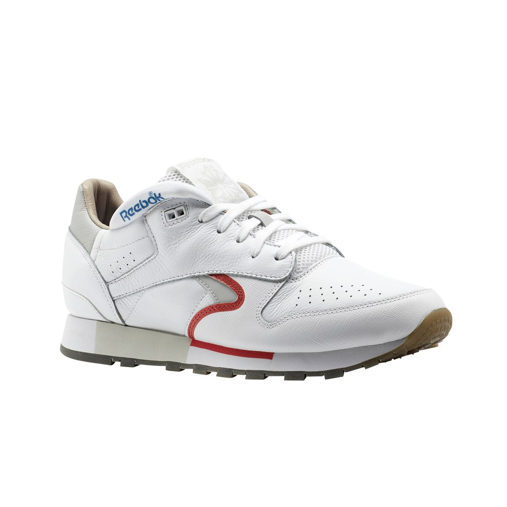 4e906a9322370 Details about Reebok Classic Leather Urge (WHITE COOL GREY RED BLUE) Men s  Shoes CN0170