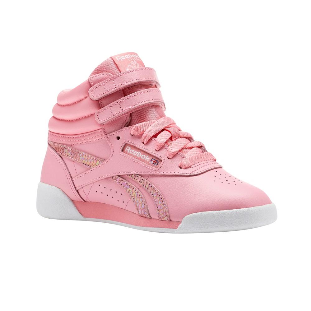 11185ed0558989 Reebok Freestyle Hi Spring (PINK WHITE) Girls Kids Shoes CN0332 ...